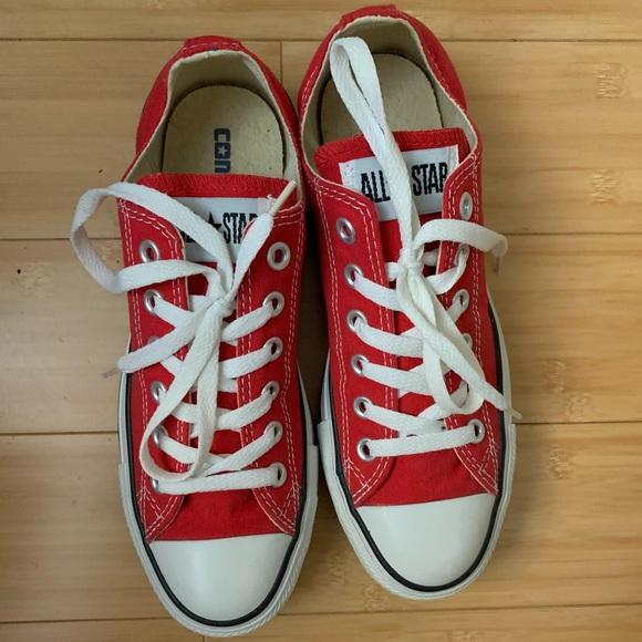Red Unisex Converse.